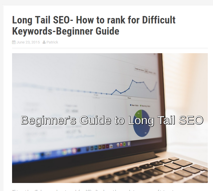 long tail seo page
