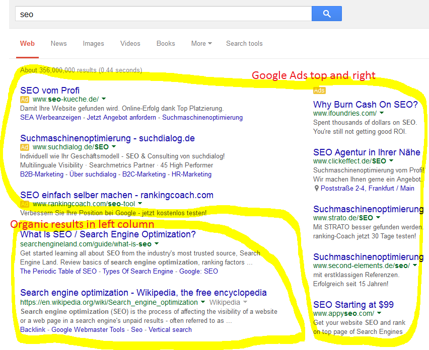 google search result long tail seo