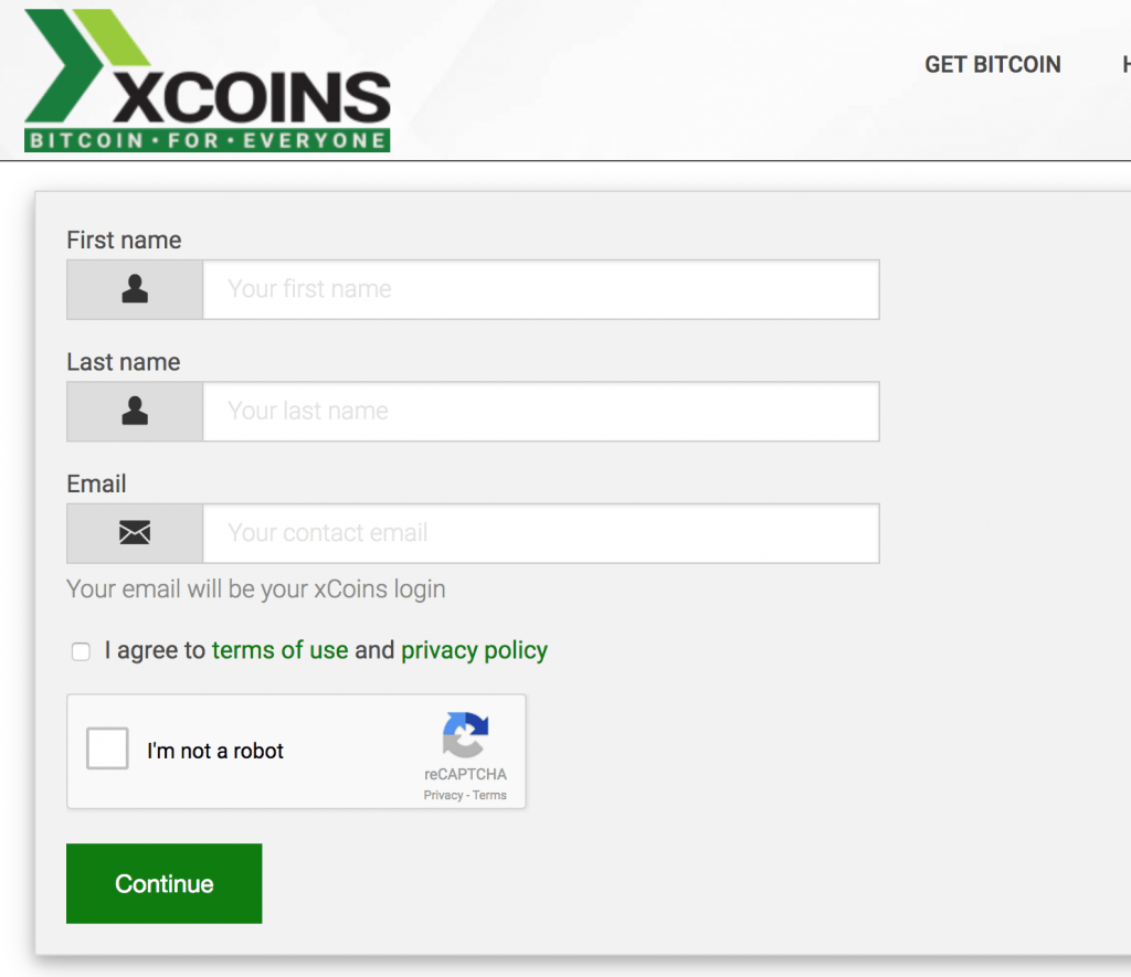 bitcoins-to-paypal-xcoins-signup-screen